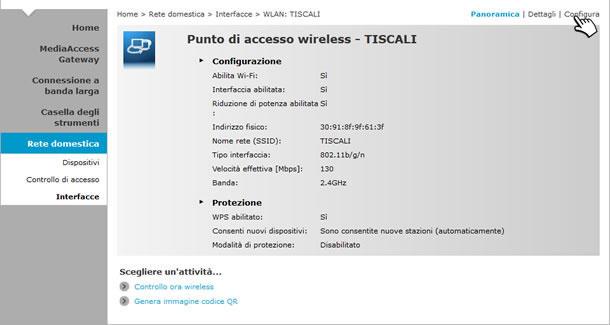 Modifica Password Wi Fi Tiscali Assistenza